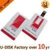 Mecanismo impulsor de la tarjeta de crédito del flash del USB de la insignia de encargo