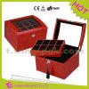Caja de reloj de acrílico de la venta del terciopelo de madera caliente del OEM
