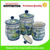 Vaso di biscotto di ceramica rotondo bianco del contenitore della scatola metallica del biscotto