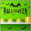 Sticker van de Decoratie van de Gift van Halloween van de Knuppel van de Stickers van de Muur van pvc de Zwarte