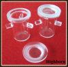 Crisoles de fusión claros del vidrio de cuarzo de la silicona con tres soportes