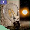 Lámpara de filamento material de cristal del bulbo LED de la decoración casera