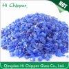 Microplaquetas esmagadas decoração do vidro do azul de cobalto