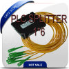 Divisor do PLC da fibra óptica de Gepon Epon FTTH, divisor do PLC do acoplador 1*6 ótico