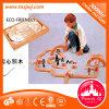 Juguete inteligente Montessori Educación ladrillo del juguete de madera de los bloques huecos