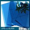 3mm-12m m azul marino, vidrio reflexivo verde oscuro, gris, de bronce
