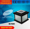 Lumières solaires de poste pour le panneau solaire facultatif de support du jardin IP65