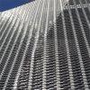 pannello perforato di alluminio della facciata della facciata del metallo 3D