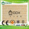 Revestimiento de madera incombustible de la piedra decorativa de la pared del cemento de la fibra