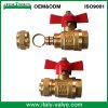 Forjado OEM y ODM Calidad de latón plateado válvula de bola Pex (CI-1051)