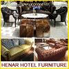 Mobília de couro do sofá de Chesterfield do estilo BRITÂNICO para a entrada do hotel