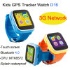 3G WiFi androides System scherzt GPS-Verfolger-Uhr mit Touch Screen (D16)