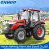 Tractor de granja diesel del manejo hidráulico de la maquinaria agrícola 80HP 4WD
