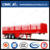 Cimc Longitudinal Cover Stick를 가진 Huajun 두 배 Stake Cargo Semi Trailer