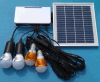 Portable Solar Rechargeable LED Lighting Lamp Kits with Li Battery