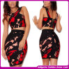 2014new Arrival Fashion Beaded Sequined V-Neck Elegant Dresses Evening Dress