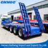 Gooseneck Low Bed Flatbed Semi Trailer Transport Machinery