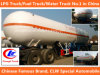3 Pesado-dever LPG Truck LPG Tank Trailer do eixo 56cbm