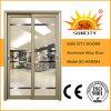 Portelli scorrevoli di alluminio di vetro d'profilatura di disegno superiore (SC-AAD064)