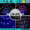 음성을 사용하는 LED RGB 수정같은 마술 공 효력 빛 디스코 DJ는 단계 점화를