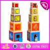 2015 Nieuwste Kubus die het Stuk speelgoed van de Stapel van de Kop van Blokken, het Hete Verkopende Interesserende Vouwende Stuk speelgoed van de Kop, het Grappige Onderwijs Houten Stuk speelgoed W13D061 vouwt van de Kop