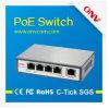 IP Cameraのための4 Poe Portsおよび1 Ethernet Uplink Portの5ポートPoe Switch