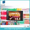 en 16:9 LCD Digital del almacén 10  que hace publicidad de la pantalla con el sensor de movimiento