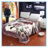 L'hiver rose couvertures molles chaudes de Raschel de fleurs de 2 plis