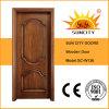 Porte en bois solide de modèle simple pour les salles (SC-W136)