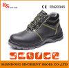 Sapatas de segurança industrial de aço do dedo do pé do couro rachado da vaca para trabalhadores da construção