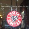 Publicidad de la señalización del café de la muestra LED del café del LED