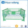 Faltender Metallstahlmaschendraht-stapelbarer Ladeplatten-Rahmen