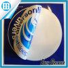 Etiqueta engomada redonda impermeable del atajo del color doble azul y blanco