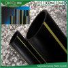 Plastik-PET Gelb-Streifen HDPE Brenngas-Rohr hergestellt worden von HDPE 80