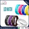 Lo sport LED guarda le vigilanze di Digitahi dello schermo di tocco della gomma di silicone di colore della caramella, vigilanze impermeabili del vestito dalle donne dell'orologio del braccialetto (DC-044)
