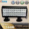 12 pollici 144 Watt 4 Row LED Light Bar con Certification (PF-A4-10144)