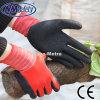 Nmsafety полиэстер Liner Латекс покрытием Моющийся работы перчатка