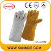 De dubbele Handschoenen van het Werk van het Lassen van de Veiligheid van het Leer van de Zweep van de Kleur Industriële (11124)