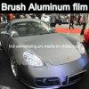 La película cepillada gris de la protección del coche del vinilo, venta caliente coloreó el vinilo del abrigo del coche