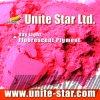 Día Luz pigmento fluorescente de color rosa para agua pinturas a base de