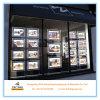 Casella chiara personalizzata della visualizzazione LED della finestra dell'agente immobiliare che appende i segni della casella chiara