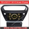 GPS를 가진 Peugeot 301/Citroen Elysee, Bluetooth를 위한 특별한 Car DVD Player. (CY-8041)