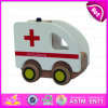 2015 Wooden barato Mini Kid Toy Car, Popular Wooden Toy Car para Children, Hot Sale Ambulance Model Wooden Ambulance Toy Car W04A104
