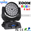 36*10W RGBW Moving Head 4in1 LED Zoom Light