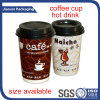 Wegwerfprodukt-Firmenzeichen gedruckte Papiercup sondern/doppel-wandig für Kaffee aus