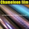 1.52*30m Air Free Bubbles Chameleon 3D Purple Protective Paint Film