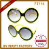 Солнечные очки стекел Sun рамки лета F7114 круглые