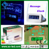 Message Board를 가진 LED Backlight Night Light Digital Alarm Clock