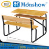 2 사람 Primary와 Middle School Hardwood Timber Desk Furniture