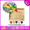 2014 het nieuwe Stuk speelgoed van de Uitrusting van de Verf van Jonge geitjes Kleurrijke, Stuk speelgoed van de Uitrusting van de Verf van Kinderen Popualr het Houten, het Hete Stuk speelgoed W03A063 van de Uitrusting van de Verf van het Onderwijs DIY van de Verkoop Houten